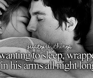 love, sleep, and couple image