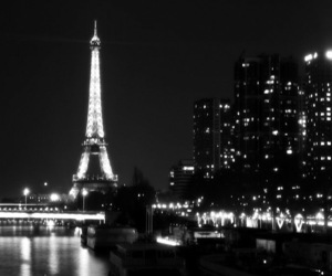 black and white, cool, and city image