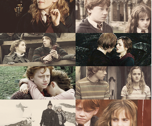 harrypotter, ron, and hermione image