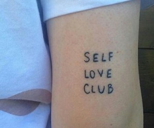 tattoo, self love, and selflove image