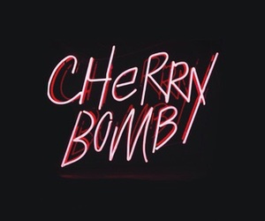 neon, pink, and cherry bomb image