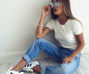 blusa, fashion, and jeans image