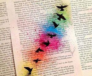 book, bird, and art image