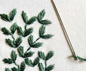 plants and sewing image