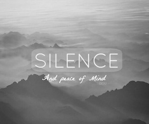 grey, peace of mind, and silence image