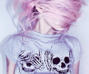 girl, grunge style, and pink hair image