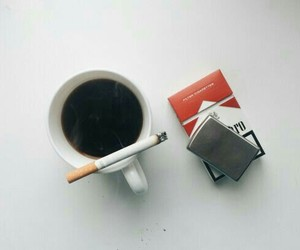 cigarette, coffee, and aesthetic image