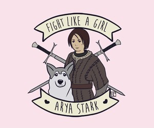 arya stark, game of thrones, and fight like a girl image