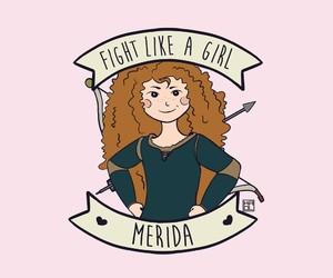 girl, merida, and brave image
