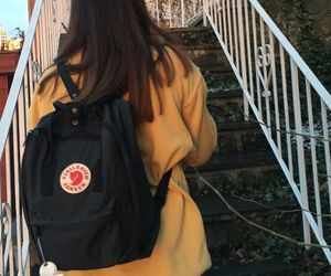 backpack, indie, and fjallraven kanken image