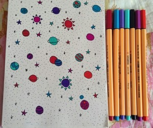 doodle, draw, and space image