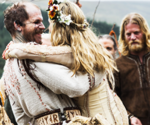 vikings, helga, and floki image