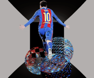 10, fcb, and football image