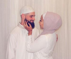 beauty, couple, and islam image