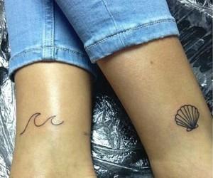 tattoo, tatto, and wave image