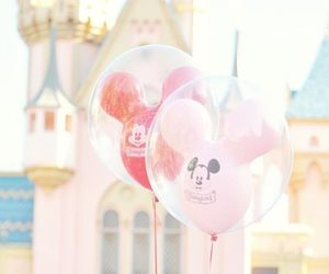 disney, balloons, and pink image