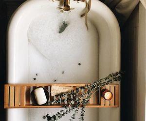 bath, bathroom, and gold image