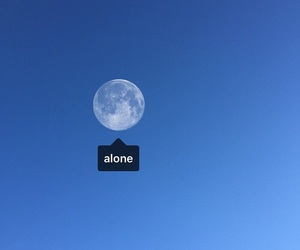 moon, alone, and blue image