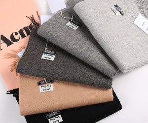 acne, grey, and scarf image