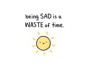 sad, sun, and happy image
