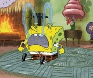 spongebob and crying image