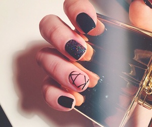 beauty, nails, and black image