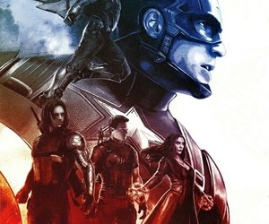 captain america, civil war, and winter soldier image