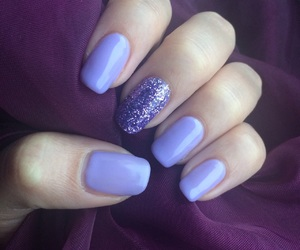 gel, glitter, and lilac image