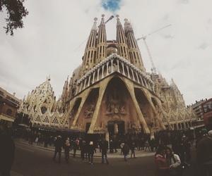 barcellona, Sagrada Familia, and travel image