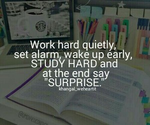 motivation, school, and study image