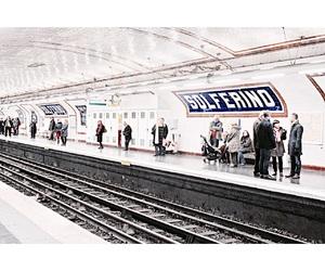 cold, metro, and paris image