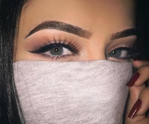 makeup, eyes, and nails image