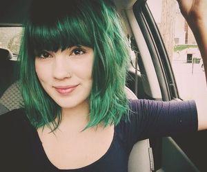 hair, green hair, and green image
