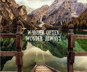 travel, wander, and quotes image