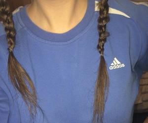 adidas, girl, and blue image