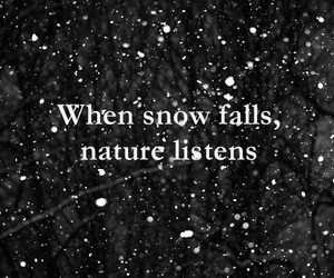 life quote, quote of the day, and snow falls image