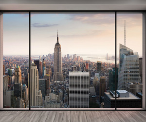 new york, city, and view image
