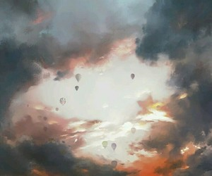 sky, air, and ballon image