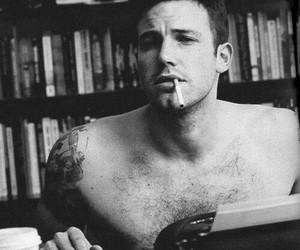 Ben Affleck, boy, and cigarette image