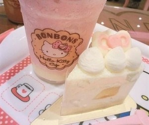 hello kitty, food, and pink image