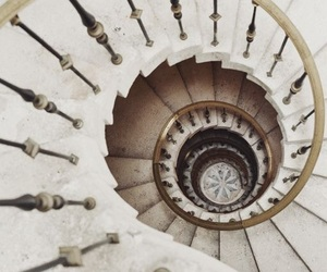 stairs, vintage, and architecture image