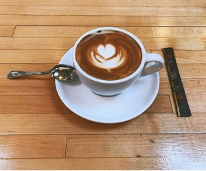 capuccino, coffee, and heart image