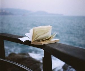 book, sea, and photography image