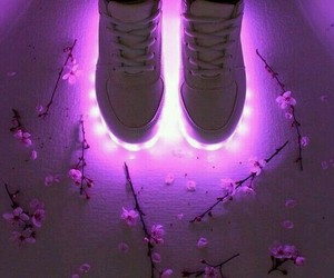 flowers, shoes, and purple image