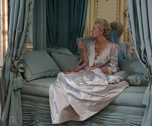 marie antoinette, dusty blue, and day bed image