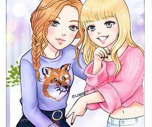 kpop, lisa, and rose image