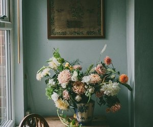 flowers, decor, and green image