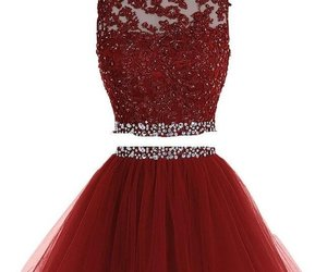 burgundy dress, tulle prom dress, and short homecoming dress image