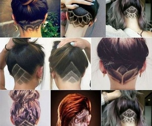 hair, style, and undercut image