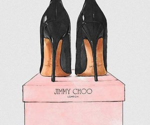 drawing, heels, and shoes image